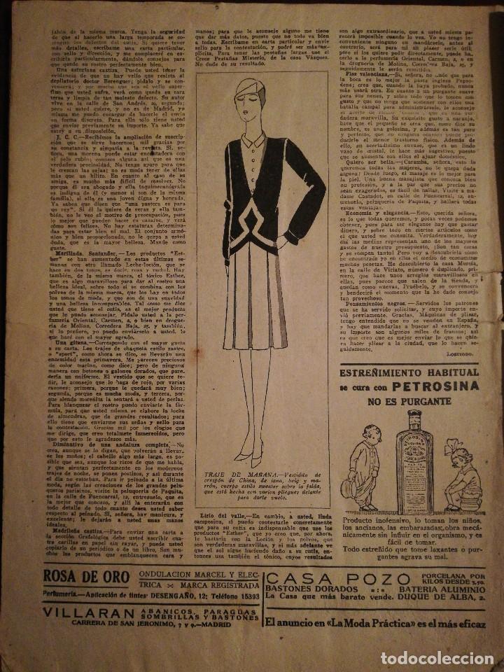 Coleccionismo de Revistas y Periódicos: Revista LA MODA PRÁCTICA ILUSTRADA 5 de Abril de 1928 - n°841 - Foto 2 - 110688023