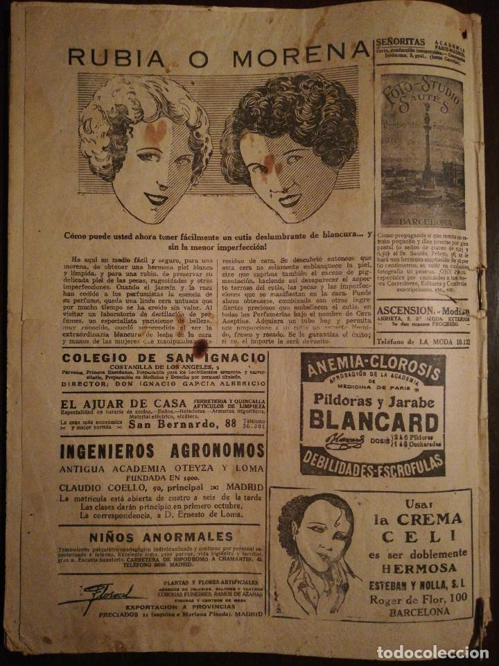 Coleccionismo de Revistas y Periódicos: Revista LA MODA PRÁCTICA ILUSTRADA 5 de Abril de 1928 - n°841 - Foto 3 - 110688023