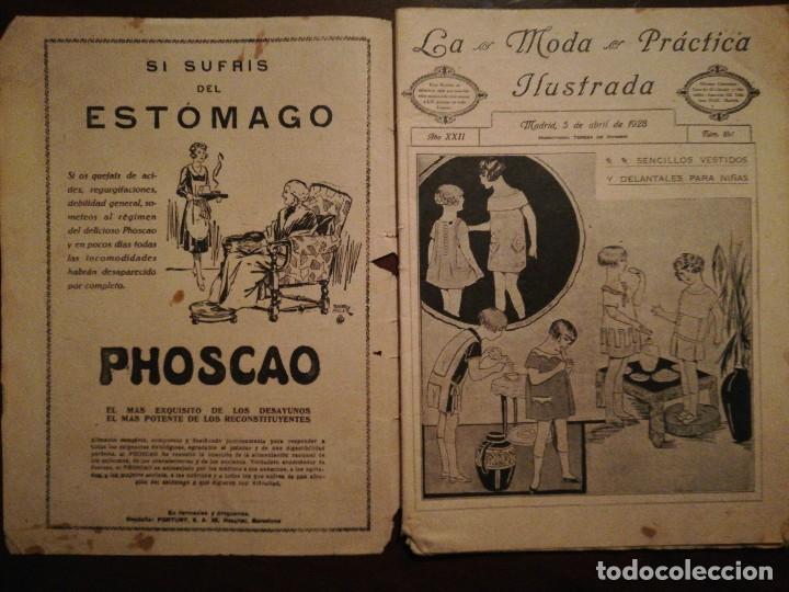 Coleccionismo de Revistas y Periódicos: Revista LA MODA PRÁCTICA ILUSTRADA 5 de Abril de 1928 - n°841 - Foto 4 - 110688023