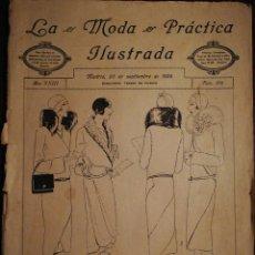 Coleccionismo de Revistas y Periódicos: REVISTA LA MODA PRÁCTICA ILUSTRADA 20 DE SEPTIEMBRE DE 1929 - N°876. Lote 110688035