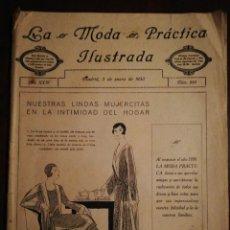 Coleccionismo de Revistas y Periódicos: REVISTA LA MODA PRÁCTICA ILUSTRADA 5 DE ENERO DE 1930 - N°883. Lote 110688083