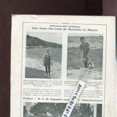 Coleccionismo de Revistas y Periódicos: REVISTA AÑO 1918 BLANES DEPORTES FUTBOL REAL CLUB DEPORTIVO ESPAÑOL RCD FUTBOL CLUB INTERNACIONAL. Lote 110699827