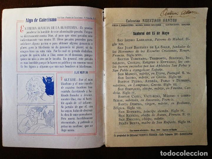 Coleccionismo de Revistas y Periódicos: Revista Religiosa Colección Nuestros Santos - SANTA. ISIDRO LABRADOR - Foto 3 - 110700207