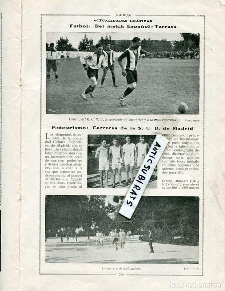REVISTA AÑO 1918 FUTBOL REAL CLUB DEPORTIVO ESPAÑOL R. C. D. TARRASA TERRASA CARRERA EN MADRID RCD (Coleccionismo - Revistas y Periódicos Antiguos (hasta 1.939))