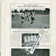 Coleccionismo de Revistas y Periódicos: REVISTA AÑO 1918 FUTBOL REAL CLUB DEPORTIVO ESPAÑOL R. C. D. TARRASA TERRASA CARRERA EN MADRID RCD. Lote 110700499
