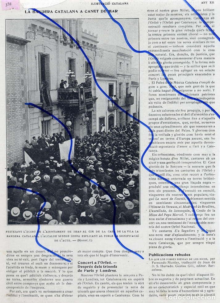 431dc66516e66 canet de mar 1914 barcelona bandera catalana - Comprar Revistas y ...