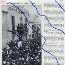 Coleccionismo de Revistas y Periódicos: CANET DE MAR 1914 BARCELONA BANDERA CATALANA HOJA REVISTA. Lote 110723275