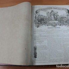 Coleccionismo de Revistas y Periódicos: TOMO LA ILUSTRACION BARCELONESA (1 AL 24,1858) Y LA ILUSTRACION PERIODICO QUINCENAL (1 AL 10,1859). Lote 110724159