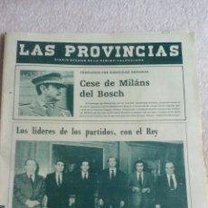 Coleccionismo de Revistas y Periódicos: DIARIO LAS PROVINCIAS VALENCIA 25 DE FEBRERO 1981. Lote 110784898