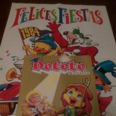 Coleccionismo de Revistas y Periódicos: PETETE REVISTA N'101,PÓSTER ¡FELICES FIESTAS 1984!. Lote 110801447