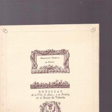 Coleccionismo de Revistas y Periódicos: ALCOY - NOTICIAS DE LA VILLA DE ALCOY EN EL REYNO DE VALENCIA 1770 / FACSIMIL. Lote 110811699