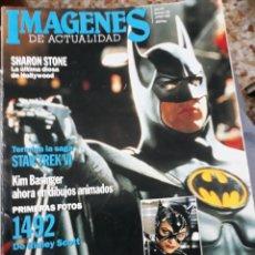 Coleccionismo de Revistas y Periódicos: REVISTA NUM 105 IMÁGENES DE ACTUALIDAD.-BATMAN GRAN RPTJE.,BRAD PITT,CARMEN MAURA-SHARON STONE,. Lote 110818182