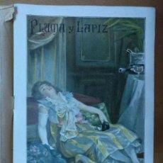 Coleccionismo de Revistas y Periódicos: REVISTA PLUMA Y LAPIZ Nº 16 FEBRERO 1901 19 X 28 CM (APROX) 10 PAGINAS. Lote 110885091
