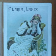 Coleccionismo de Revistas y Periódicos: REVISTA PLUMA Y LAPIZ Nº 19 MARZO 1901 19 X 28 CM (APROX) 10 PAGINAS. Lote 110885247