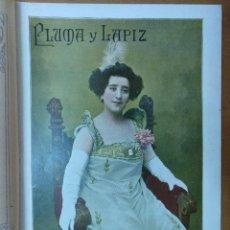Coleccionismo de Revistas y Periódicos: REVISTA PLUMA Y LAPIZ Nº 25 ABRIL 1901 VIRGINIA REITER 19 X 28 CM (APROX) 10 PAGINAS. Lote 110891515