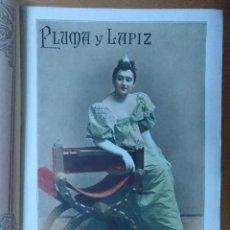 Coleccionismo de Revistas y Periódicos: REVISTA PLUMA Y LAPIZ Nº 34 JUNIO 1901 MARIA GUERRERO LISBOA 19 X 28 CM (APROX) 10 PAGINAS. Lote 110960911