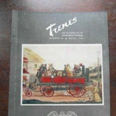 Coleccionismo de Revistas y Periódicos: REVISTA TRENES Nº 54 DE 1953. RENFE. FERROCARRILES. TROLEBUS. Lote 111194419