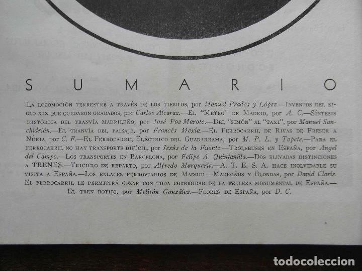 Coleccionismo de Revistas y Periódicos: Revista Trenes nº 54 de 1953. RENFE. Ferrocarriles. Trolebus - Foto 2 - 111194419