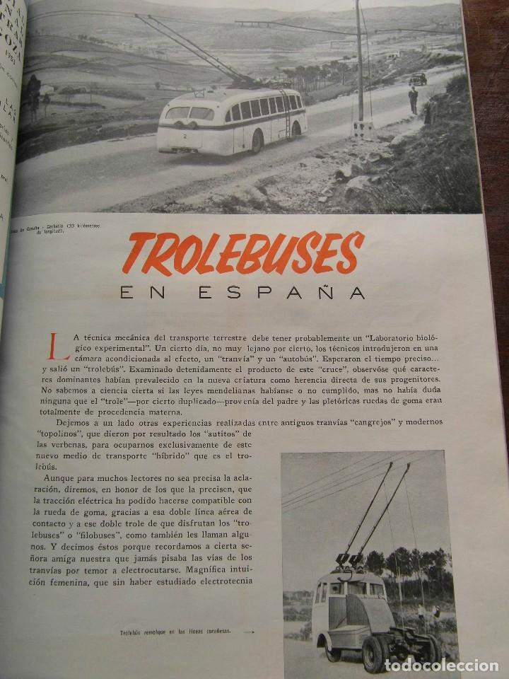 Coleccionismo de Revistas y Periódicos: Revista Trenes nº 54 de 1953. RENFE. Ferrocarriles. Trolebus - Foto 3 - 111194419