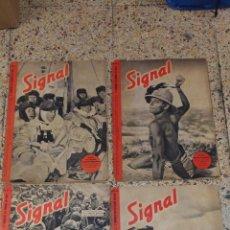 Coleccionismo de Revistas y Periódicos: REVISTA SIGNAL. 4 NUMEROS. SPNº20 1941 SP Nº1, Nº2, Nº4 1942. BERLIN. Lote 111254895