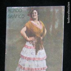 Coleccionismo de Revistas y Periódicos: F1 MUNDO GRFICO Nº 386 AÑO 1919 MARUJILLA BELLA Y NOTABLE ARTISTA DE VARIEDADES. Lote 111268455