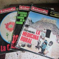 Coleccionismo de Revistas y Periódicos: TRIUNFO 3 REVISTAS. Lote 111327359