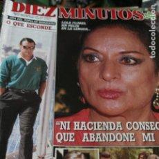 Coleccionismo de Revistas y Periódicos: SARA MONTIEL MARIO CONDE ISABEL PANTOJA LOLA FLORES ALASKA LYDIA BOSCH 1988. Lote 179144952