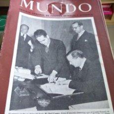 Coleccionismo de Revistas y Periódicos: MUNDO - REVISTA SEMANAL DE POLITICA EXTERIOR Y ECONOMIA -- LOTE DE 229 EJEMPARES -- 1942 / 1950 --. Lote 111350903