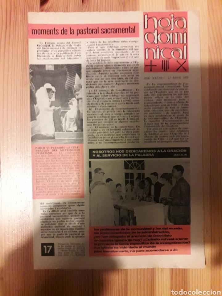 HOJA DOMINICAL PARROQUIA JOSEPETS GRACIA 1985 CATALAN Y CASTELLANO LESSEPS RELIGION (Coleccionismo - Revistas y Periódicos Modernos (a partir de 1.940) - Otros)