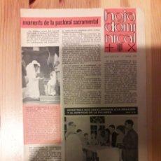 Coleccionismo de Revistas y Periódicos: HOJA DOMINICAL PARROQUIA JOSEPETS GRACIA 1985 CATALAN Y CASTELLANO LESSEPS RELIGION. Lote 111386315