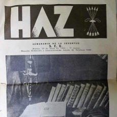Coleccionismo de Revistas y Periódicos: REVISTA : HAZ SEMANARIO DE LA JUVENTUD, S.E.U. 1941,3º ÉPOCA. Lote 111446619