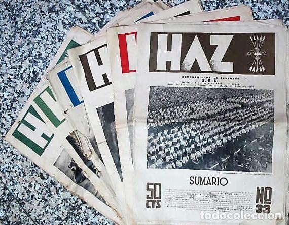 Coleccionismo de Revistas y Periódicos: REVISTA : HAZ SEMANARIO DE LA JUVENTUD, S.E.U. 1941,3º ÉPOCA - Foto 2 - 111446619