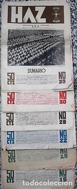 Coleccionismo de Revistas y Periódicos: REVISTA : HAZ SEMANARIO DE LA JUVENTUD, S.E.U. 1941,3º ÉPOCA - Foto 3 - 111446619