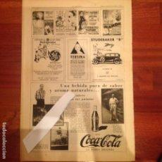 Coleccionismo de Revistas y Periódicos: ANUNCIO COCA COLA EN LA VANGUARDIA 1930. Lote 54015383