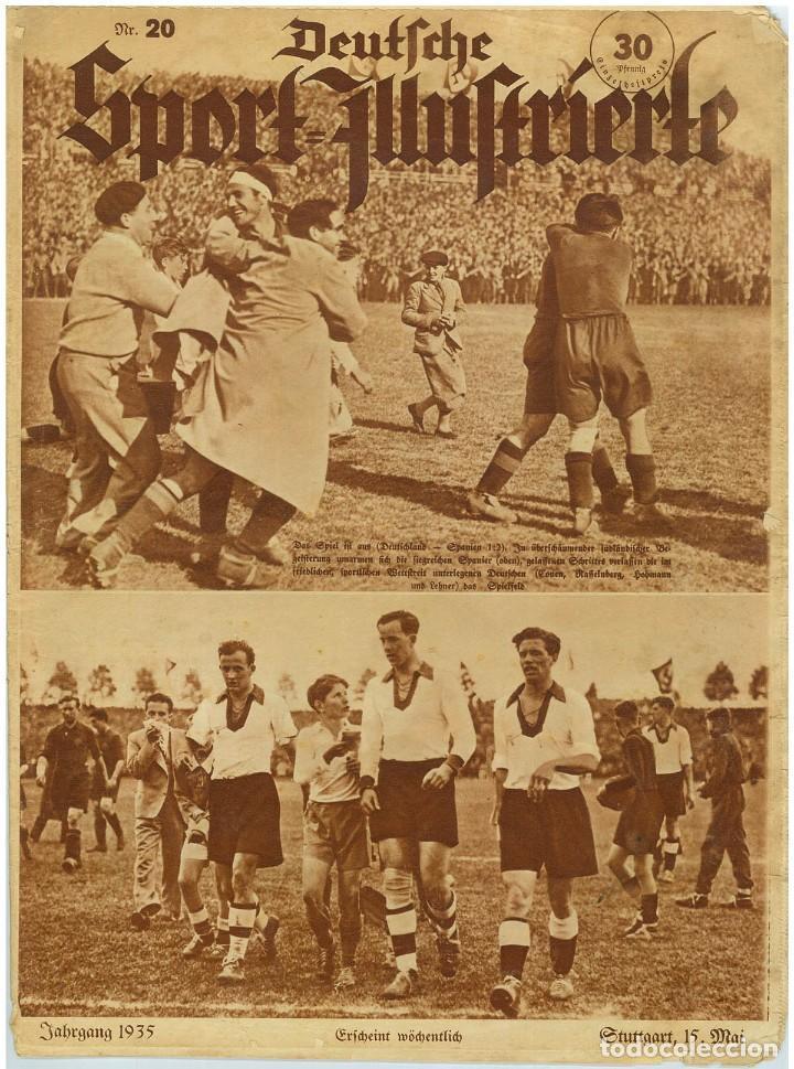 DEUTSCHE SPORT ILLUSTRIERTE, 15 MAI 1935, N. 20. MAYO DE 1935, FÚTBOL ESPAÑA-ALEMANIA (Coleccionismo - Revistas y Periódicos Antiguos (hasta 1.939))