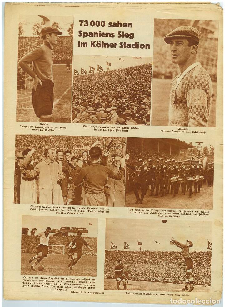 Coleccionismo de Revistas y Periódicos: Deutsche Sport Illustrierte, 15 Mai 1935, n. 20. Mayo de 1935, fútbol España-Alemania - Foto 2 - 111595951