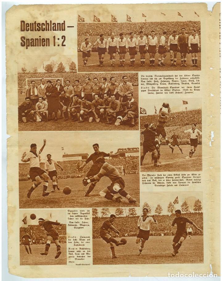 Coleccionismo de Revistas y Periódicos: Deutsche Sport Illustrierte, 15 Mai 1935, n. 20. Mayo de 1935, fútbol España-Alemania - Foto 3 - 111595951