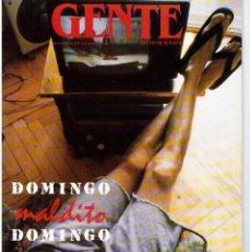 Coleccionismo de Revistas y Periódicos: GENTE 1989. MARILYN MONROE. JERRY LEE LEWIS. EDUARDO ARROYO. VALERIA GOLINO.CARMINA ORDOÑEZ.. Lote 111729967