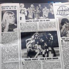 Coleccionismo de Revistas y Periódicos: SYLVIE VARTAN ROCIO JURADO VILLAGE PEOPLE TERESA GUERRA PERET FRANK SINATRA . Lote 111739635