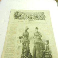Coleccionismo de Revistas y Periódicos: REVISTA LA MODA ELEGANTE AÑO XXXVII MADRID 6 DE FEBRERO DE 1878. . Lote 111757639