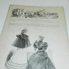 Coleccionismo de Revistas y Periódicos: REVISTA LA MODA ELEGANTE AÑO LII MADRID 30 DE OCTUBRE DE 1893 N 40. . Lote 111784403