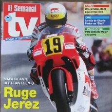 Coleccionismo de Revistas y Periódicos: EL SEMANAL TV 7 MAYO 1994 MUNDIAL DE MOTOCICLISMO, MIRIAM DIAZ AROCA, DIA DEL TENTACULO. Lote 111844579