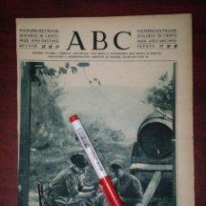 Coleccionismo de Revistas y Periódicos: GUIPUZCOANAS JUGANDO CARTAS PUERTA UNA SIDRERIA -VALLE OYARZUN- RECORTE PRENSA- FOTOGRAFIA. Lote 111919427