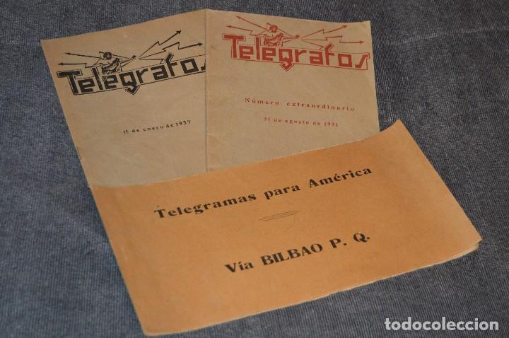 LOTE DE 2 REVISTAS TELÉGRAFOS Y TALONARIO TELEGRAMAS PARA AMÉRICA - AÑOS 30 - VINTAGE - HAZ OFERTA (Coleccionismo - Revistas y Periódicos Antiguos (hasta 1.939))