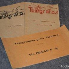 Coleccionismo de Revistas y Periódicos: LOTE DE 2 REVISTAS TELÉGRAFOS Y TALONARIO TELEGRAMAS PARA AMÉRICA - AÑOS 30 - VINTAGE - HAZ OFERTA. Lote 111921823
