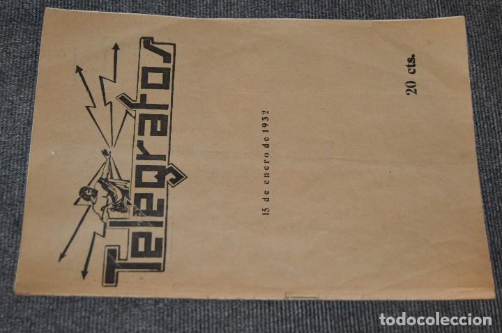 Coleccionismo de Revistas y Periódicos: LOTE DE 2 REVISTAS TELÉGRAFOS Y TALONARIO TELEGRAMAS PARA AMÉRICA - AÑOS 30 - VINTAGE - HAZ OFERTA - Foto 2 - 111921823