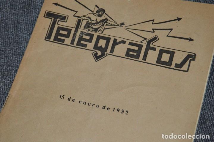 Coleccionismo de Revistas y Periódicos: LOTE DE 2 REVISTAS TELÉGRAFOS Y TALONARIO TELEGRAMAS PARA AMÉRICA - AÑOS 30 - VINTAGE - HAZ OFERTA - Foto 3 - 111921823