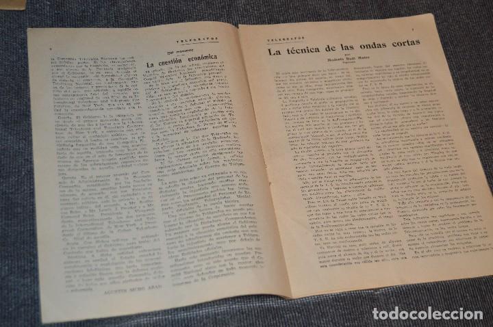 Coleccionismo de Revistas y Periódicos: LOTE DE 2 REVISTAS TELÉGRAFOS Y TALONARIO TELEGRAMAS PARA AMÉRICA - AÑOS 30 - VINTAGE - HAZ OFERTA - Foto 4 - 111921823