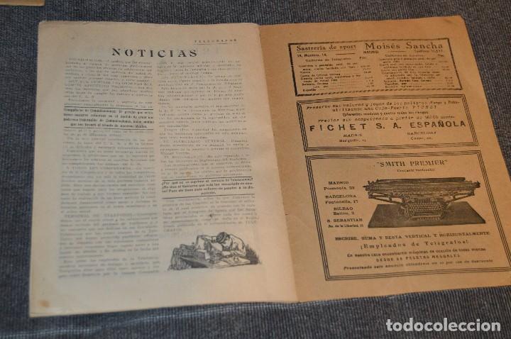 Coleccionismo de Revistas y Periódicos: LOTE DE 2 REVISTAS TELÉGRAFOS Y TALONARIO TELEGRAMAS PARA AMÉRICA - AÑOS 30 - VINTAGE - HAZ OFERTA - Foto 5 - 111921823