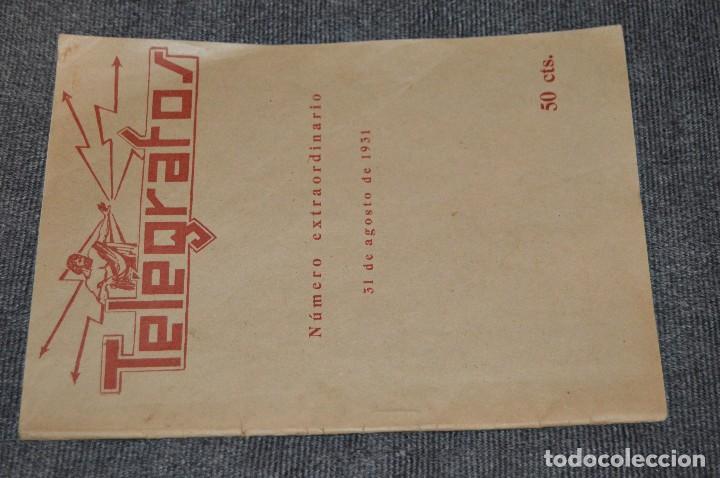 Coleccionismo de Revistas y Periódicos: LOTE DE 2 REVISTAS TELÉGRAFOS Y TALONARIO TELEGRAMAS PARA AMÉRICA - AÑOS 30 - VINTAGE - HAZ OFERTA - Foto 6 - 111921823